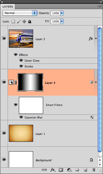 Sample of gradient on layer mask