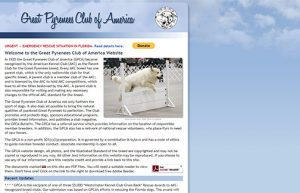Great Pyrenes Club of America home page
