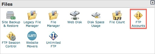 ftp account cpanel